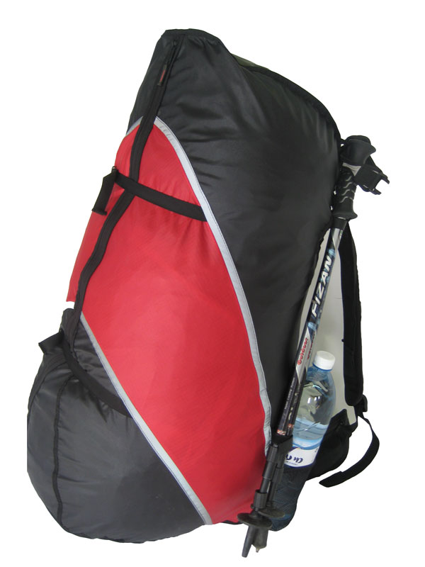 Compression straps to tie down the contents of the bag for comfortable hiking
