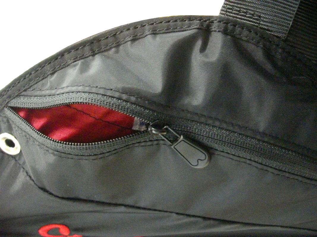 Left side pockets for easy in-flight access